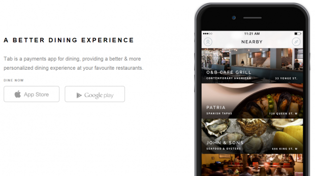 Tab Mobile Payments for Dining Mobile App