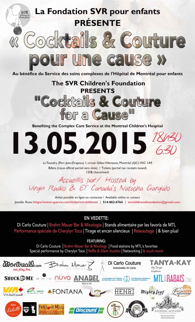 Official Poster Cocktails and Couture for a Cause SVR Foundation