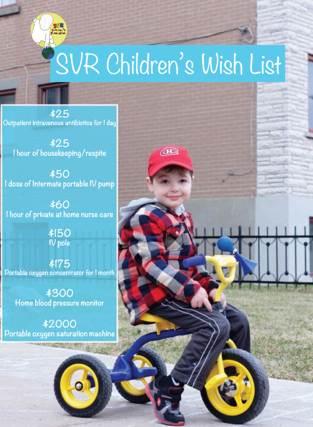SVR Childrens Donations Wishlist