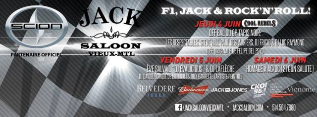 Jack Saloon Grand Prix Party Montreal