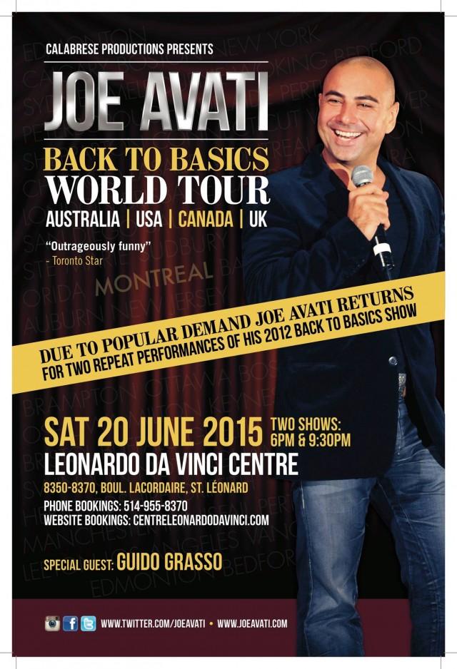 Joe Avati Comedy Show Montreal Leonardo Da Vinci Center (1)