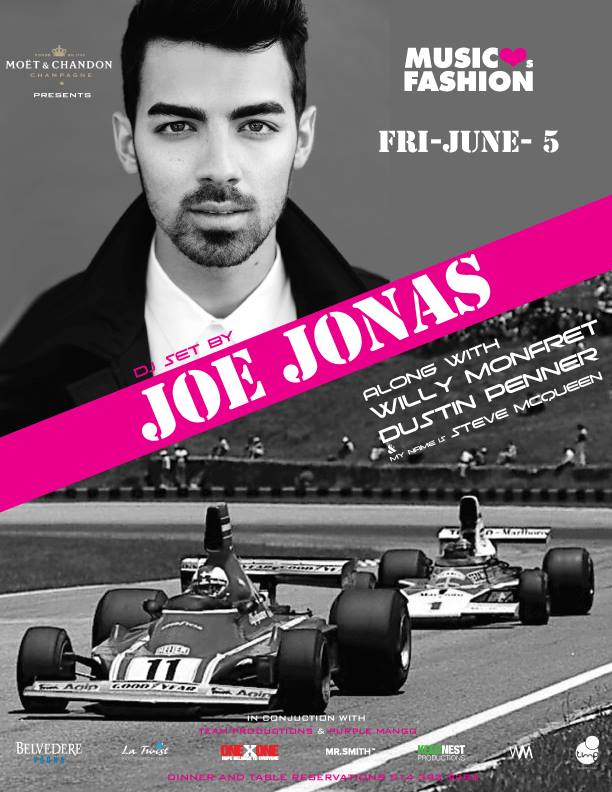 Time Supper Club Joe Jonas Grand Prix Party Montreal