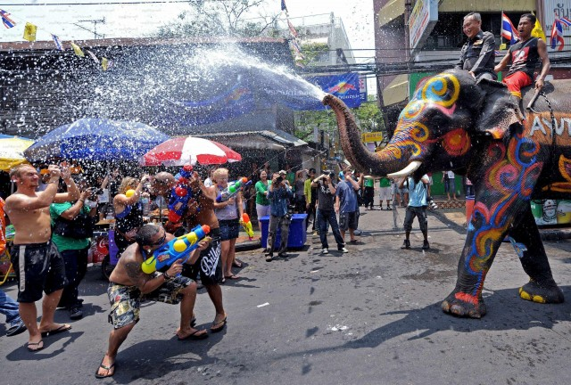Water Festival in Songkran Thailand