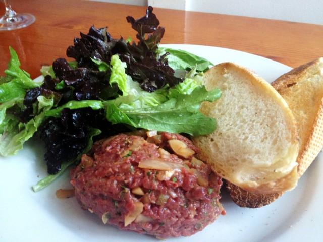 Au Pied de Cochon_Montreal restaurant_Montreal Food Divas_bison tartare