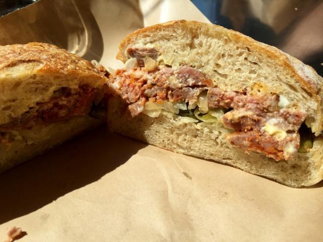 Boucherie Lawrence, Montreal Restaurant & Butcher - Sausage Sandwich, Montreal Food Divas