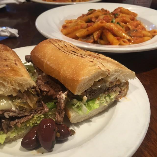 Cafe Gentile, Montreal restaurant - steak sandwich, Montreal food divas