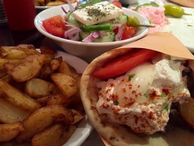Nostos Grill, Montreal restaurant - gyro pita, montreal food divas