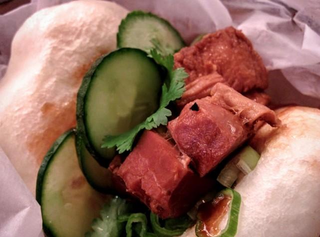 Satay Brother, Montreal Restaurant - Pork belly steam bun, montreal food divas