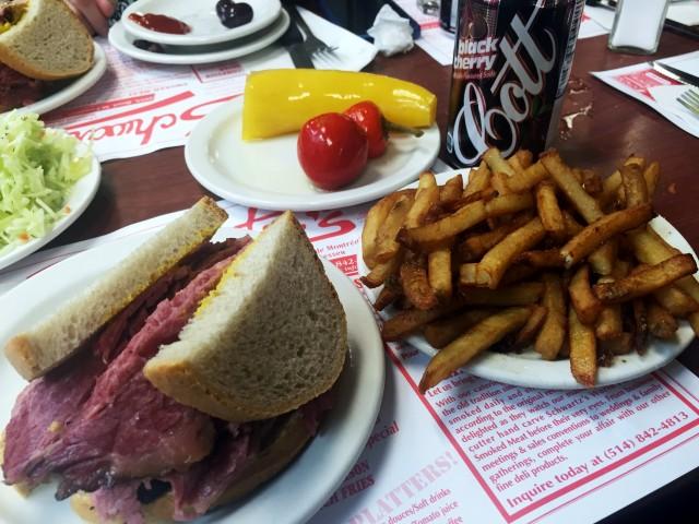 Schwartzs Deli, Montreal Restaurant - Smoked Meat sandwich, montreal food divas