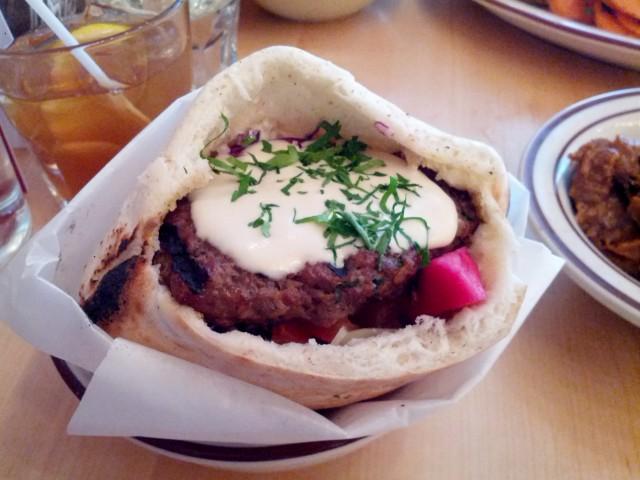 Sumac, Montreal Restaurant - Beef Kefta Sandwich, montreal food divas