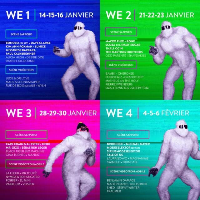 Igloofest Lineup Montreal 2016