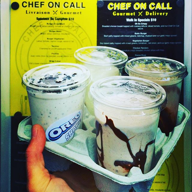 Chef on Call Montreal Milkshakes