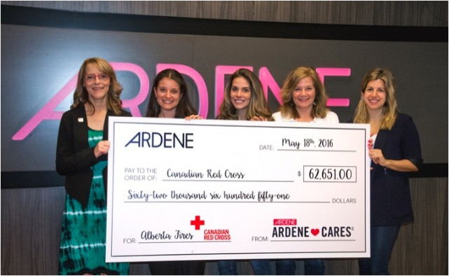 Ardene Red Cross Fort McMurray Montreal