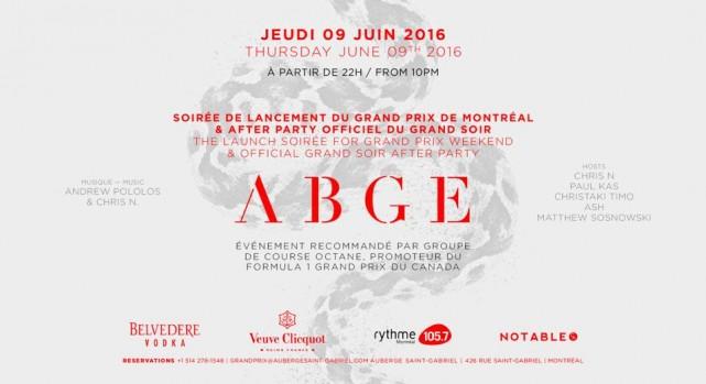 auberge saint gabriel Grand Prix Montreal 2016