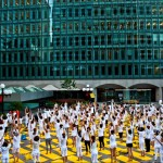 Practice Yoga Under the Sunset in Old Montreal