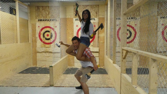 maniax axe throwing montreal valentines day