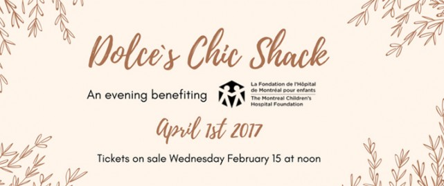 Dolce Ball Chic Shack Montreal fundraising MCHF 1