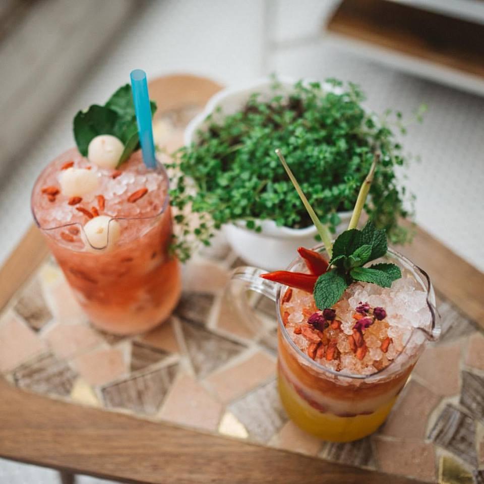 Kampai Cocktail Pitchers 3 beer garden montreal nightlife bar