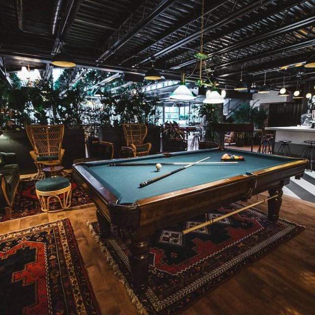 Kampai Pool Table beer garden montreal nightlife bar