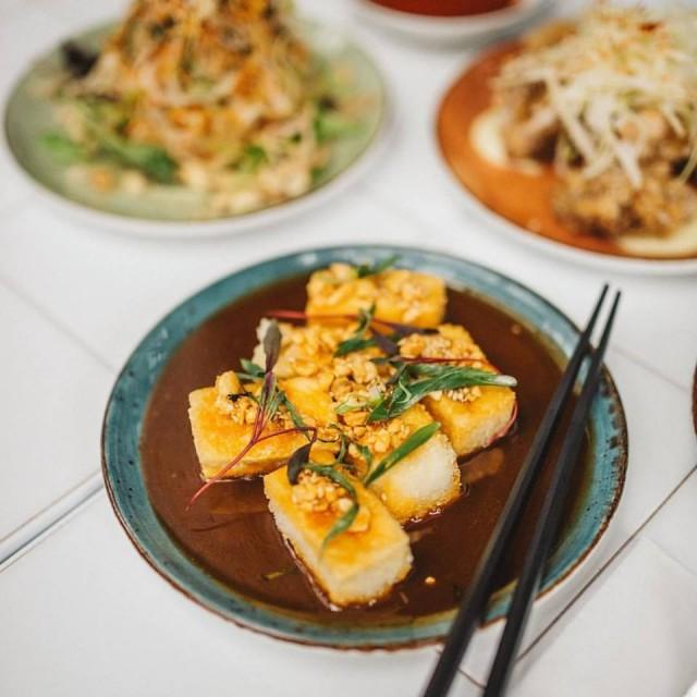 Kampai fried tofu beer garden montreal nightlife bar