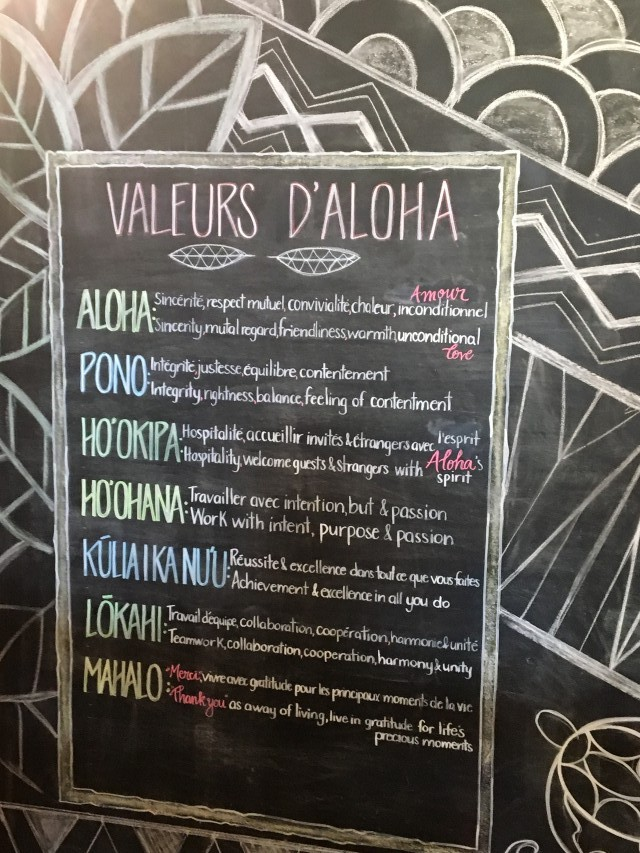 Aloha Espresso Bar Chalkboard 3