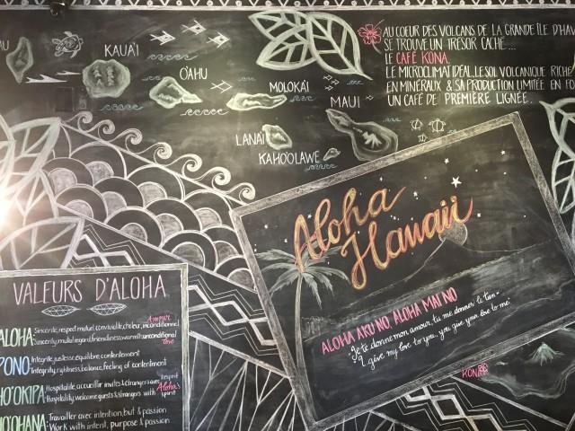Aloha Espresso Bar Chalkboard 4