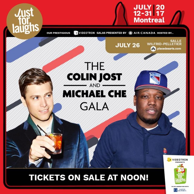 Colin Jost and Michael Che Gala montreal just for laughs festival