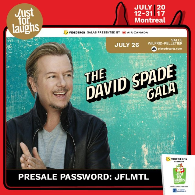 David Spade Gala montreal just for laughs festival