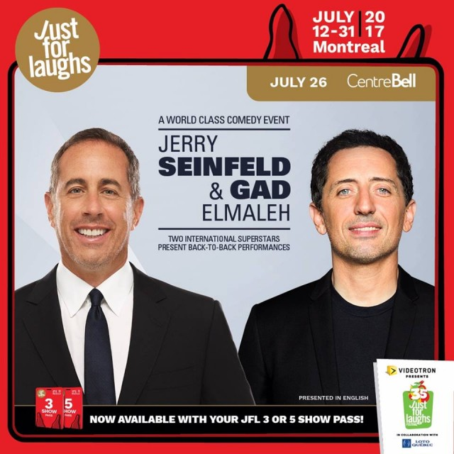 Jerry Seinfeld and Gad Elmaleh montreal just for laughs festival