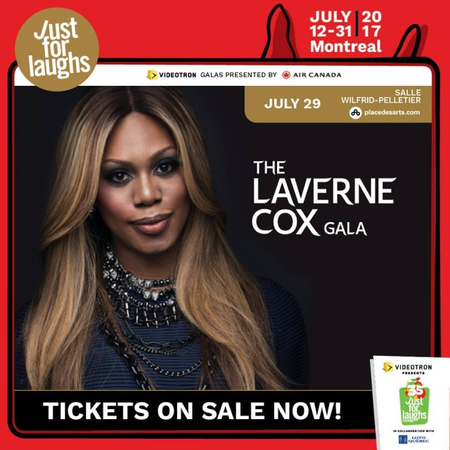 Laverne Cox Gala montreal just for laughs festival