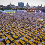 One Big Yoga Session Dedicated to Peace in Old Montreal