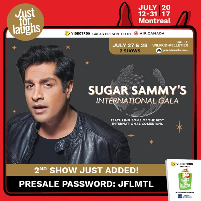 Sugar Sammy Gala montreal just for laughs festival