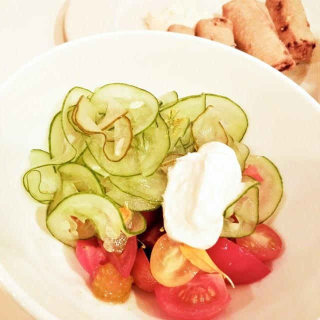 cucumber tomato salad terra perma la recolte montreal faberge