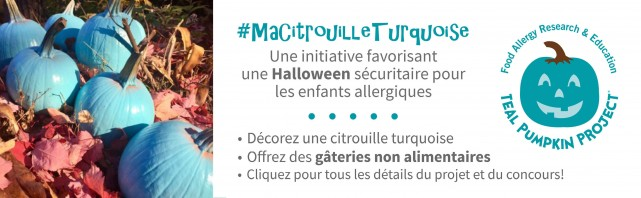 turquoise pumpkin halloween montreal 1