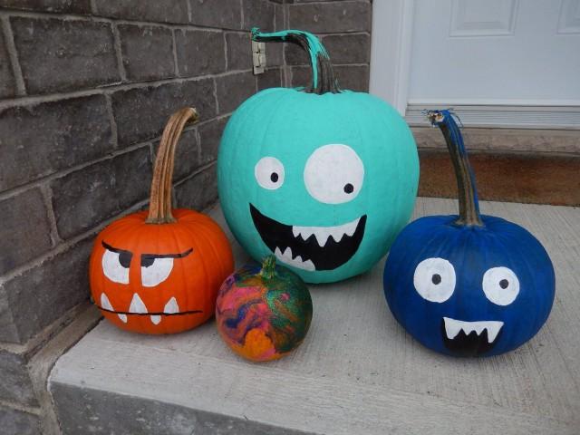 turquoise pumpkin halloween montreal 4