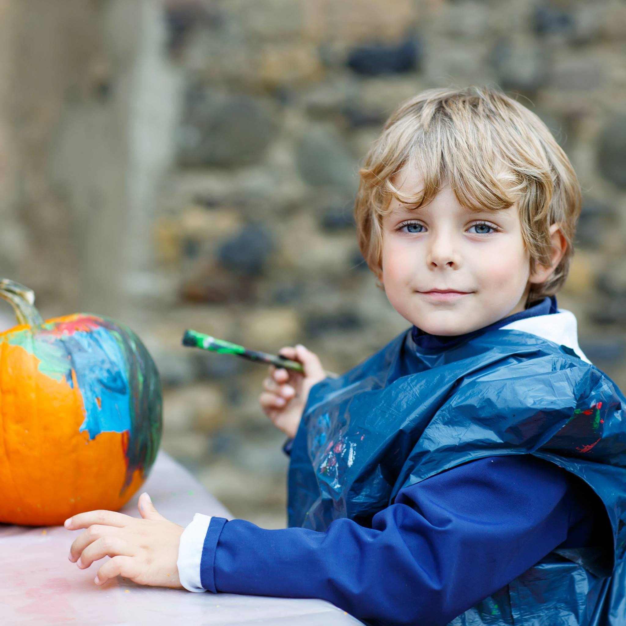 turquoise pumpkin halloween montreal 5