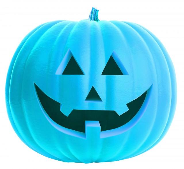 turquoise pumpkin halloween montreal 6