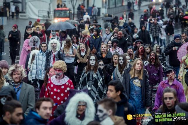 zombie walk montreal halloween 1