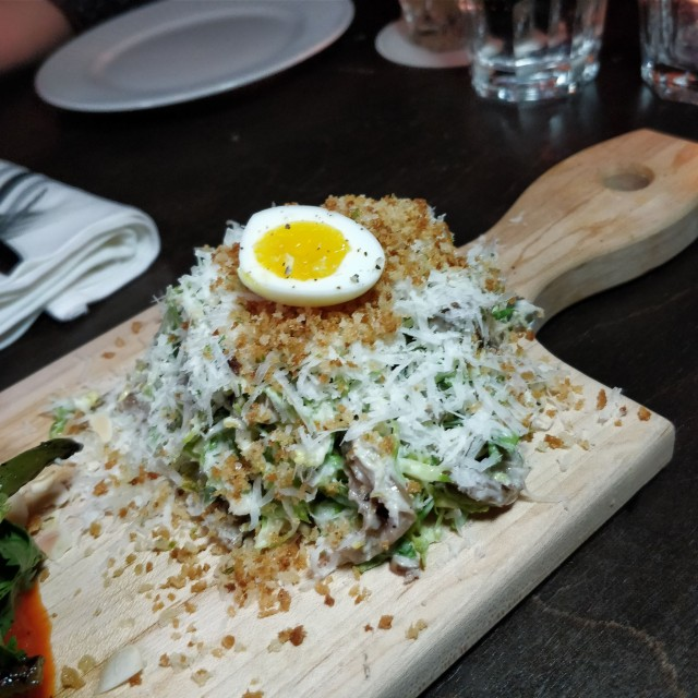 Brussel sprouts Caesar salad-RC
