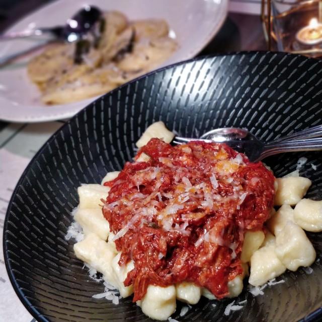 Ricotta gnocchi-braised beef - sorrentinos-RC