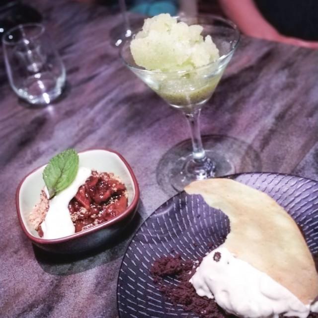 cobbler-tiramisu gelato-lime basil granita