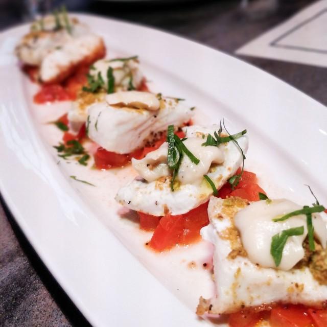 halibut-smoked tomato-roasted veggie puree-RC