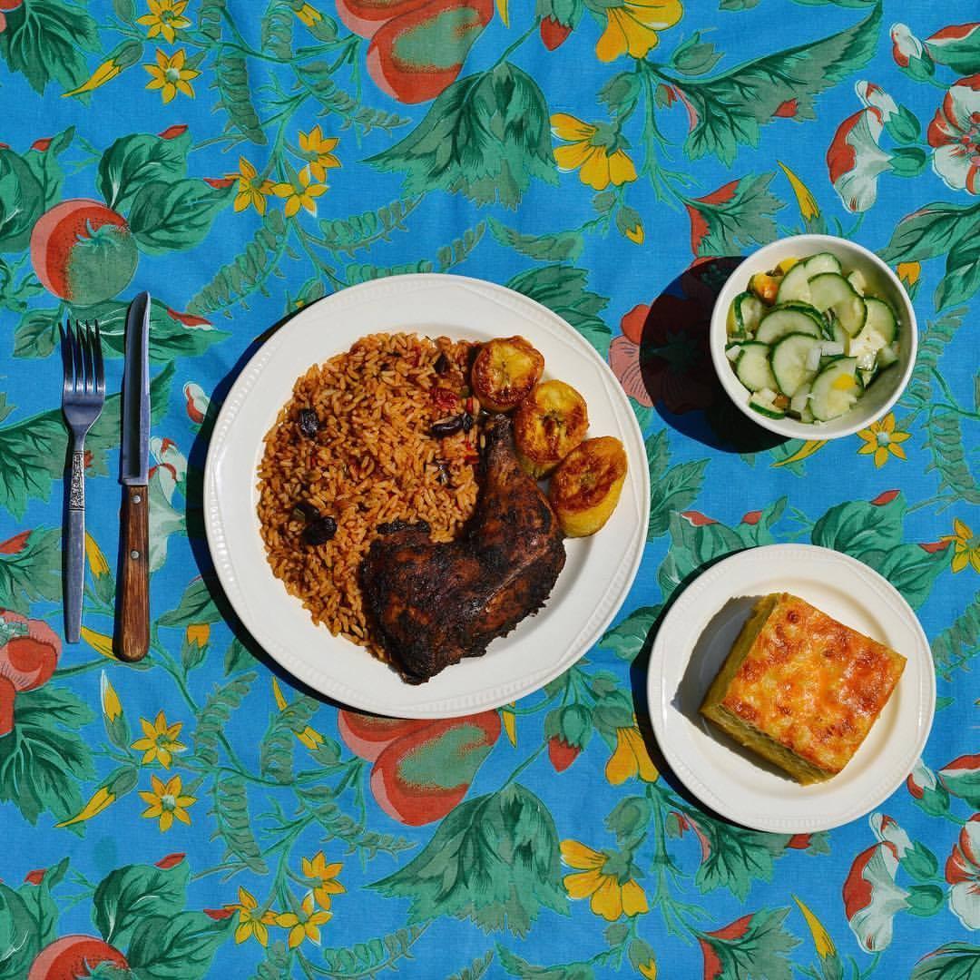 Lloydies Caribbean Restaurant Jerk Chicken plate