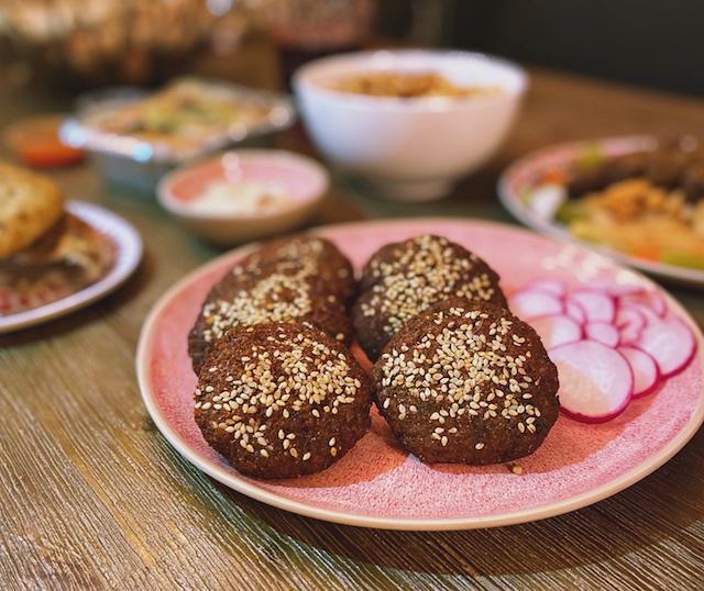 close up of falafels, egyptian food