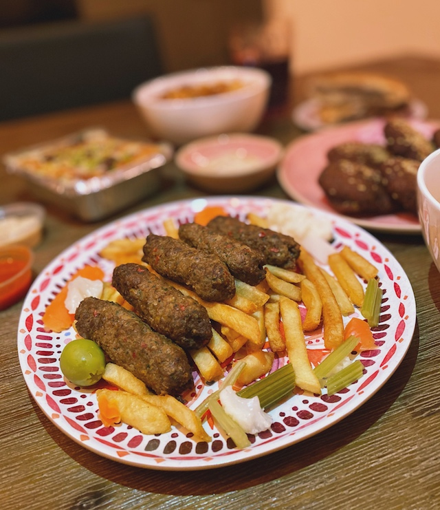 close up of kofta, egyptian food